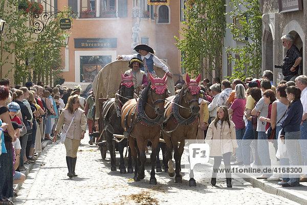Historischer Heereszug in Rothenburg ob der Tauber - Mittelfranken