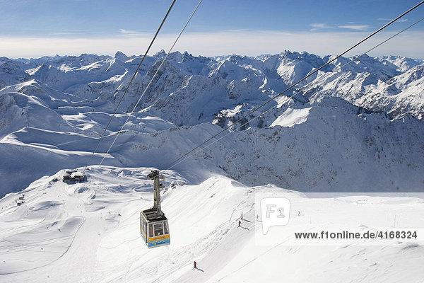 Allgäuer Alpen - Blick vom Nebelhorn-Gipfel - Nebelhornbahn - Bayern