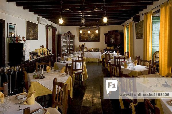 Restaurant El Terrero im Landhotel Hotel Rural Senderos de Abona in Granadilla Teneriffa Kanaren