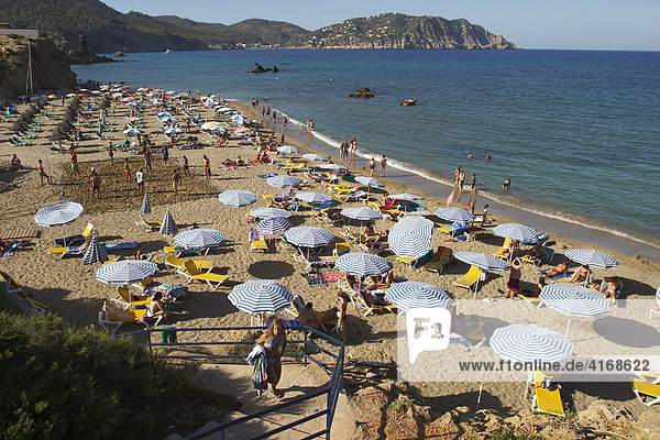 Platja des Figueral in the east of Ibiza