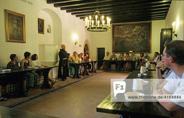Monasterio La R·bida - sala capitular Kapitelsaal - Costa de la Luz - Andalusien Provinz Huelva Spanien