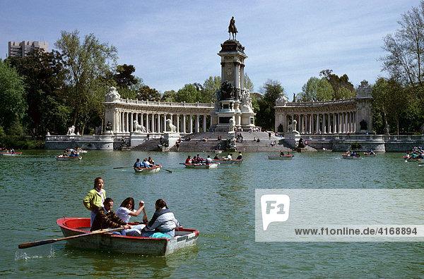 Madrid Retiro-Park Spanien