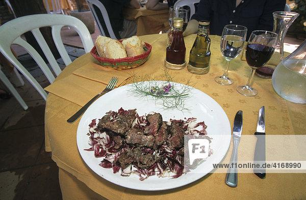 Toskana Taglia di bisteca fiorentina Schweinelende