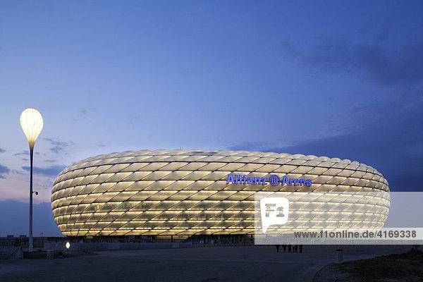 Fußballstadion Allianz Arena in München Oberbayern