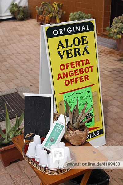 Verkauf von Aloe Vera Produkten in Morro Jable   Jandia   Fuerteventura   Kanarische Inseln