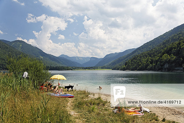 Hintersee lake  Salzburg state  Austria