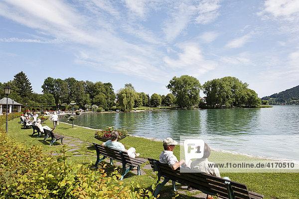 Tegernsee lake  Bad Wiessee  Upper Bavaria Germany