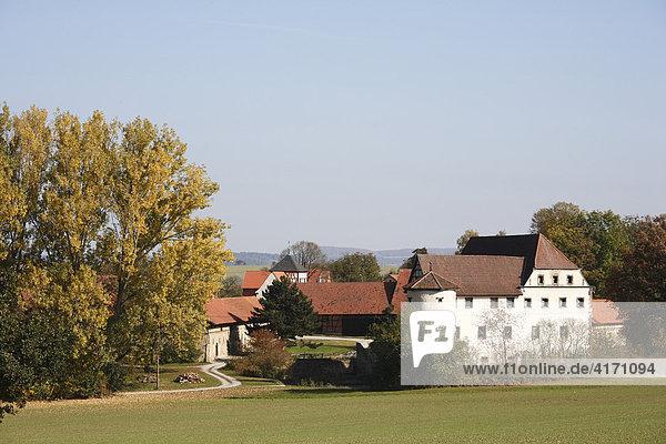 Wasserschloss Roßrieth (Mellrichstadt)  Rhön-Grabfeld  Unterfranken  Bayern  Deutschland