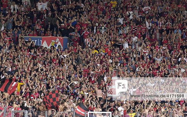 Fußballfans des 1. FC Nürnberg  Bayern  Deutschland