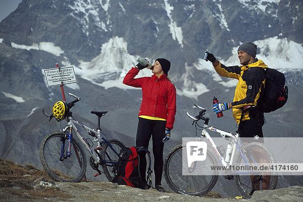 Mountainbike  Fimberpass  Tirol  Österreich