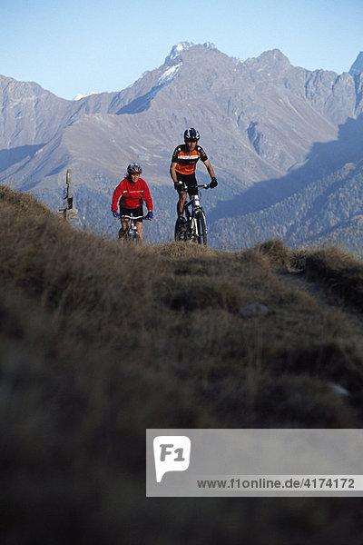 Mountainbiker  Serfaus  Tyrol  Austria