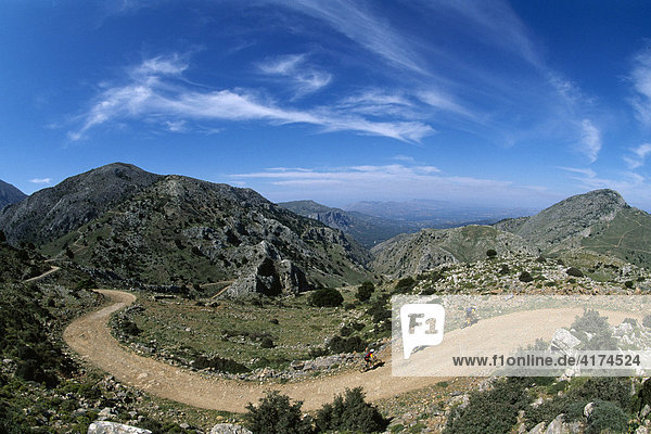 Mountainbiking  Ida mountains  Crete  Greece