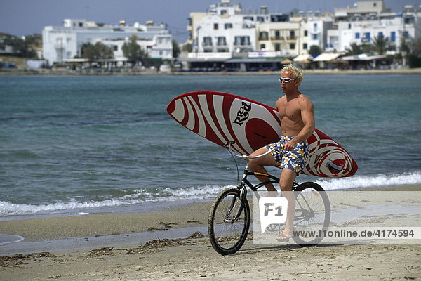Surfer  Naxos Island  Cyclades  Greece