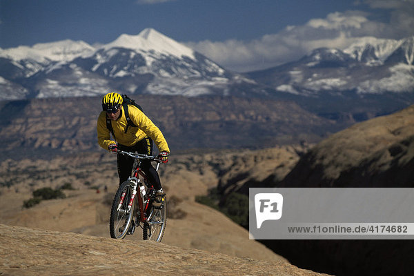 Mountainbiker  Moab  Utah  USA