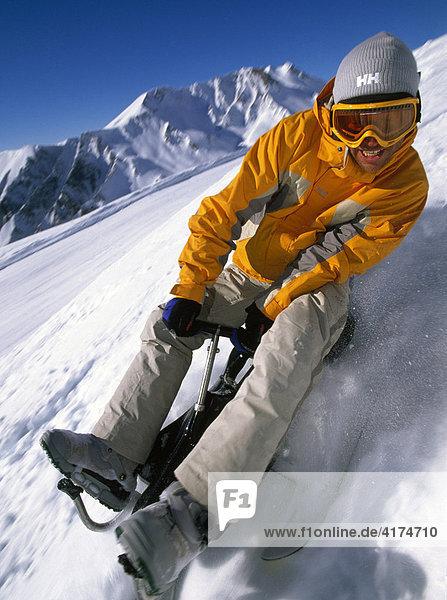 Rodeln  Snowcart  Serfaus  Tirol  Österreich