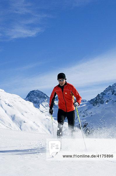Langlauf  Bieler Höhe  Galtür  Tirol  Österreich