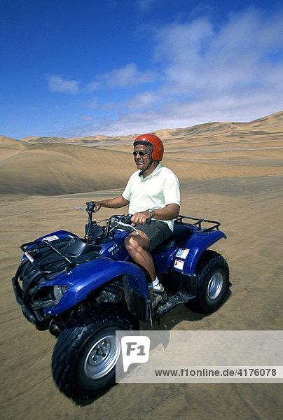 ATV or Quad  Swakopmund  Namib Desert  Namibia  Africa