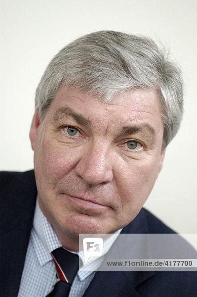 Michael Sommer  Vorsitzender des Deutschen Gewerkschaftsbundes DGB  im Gespräch/Interview