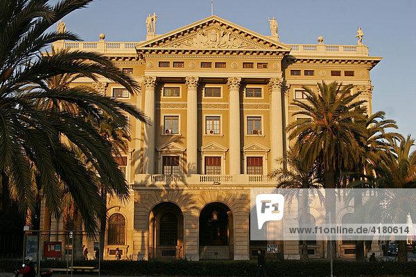 Das Gobierno Militär Gebäude  Barcelona  Spanien