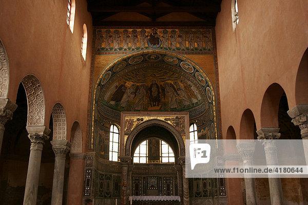 Weltkulturerbe Euphrasius-Basilika in Porec  Kroatien  Europa