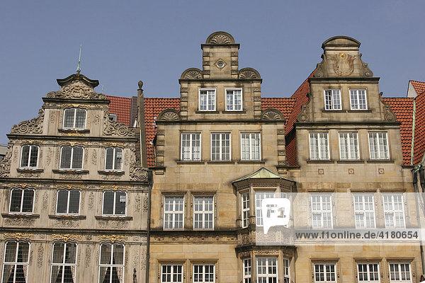 Historische Häuser am Markt in Bremen  Bremen  Deutschland  Europa