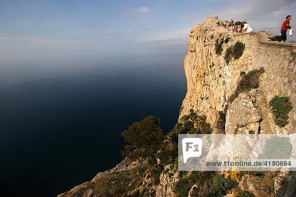 Cap de Formentor  Halbinsel mit Steilküste am östlichsten Punkt der Insel  Mallorca  Spanien  Europa