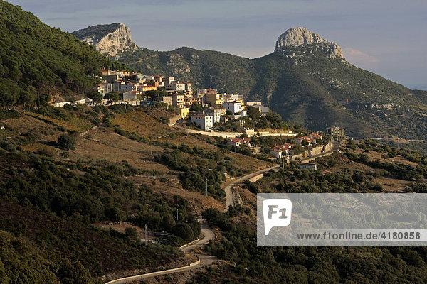 Hochebene von Baunei  Sardinien  Italien  Europa