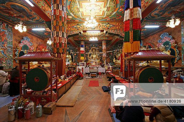 Buddhistisches Kloster beim Stupa von Bodnath - Kathmandu  Nepal  Asien
