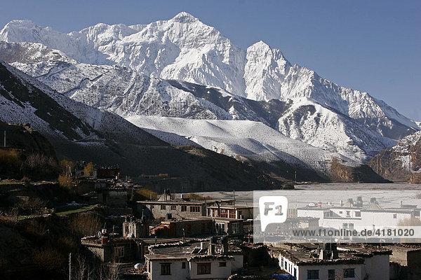Kagbeni  ein Bergdorf auf der Route des Jomsom-Treks in Nepal Kagbeni  Nepal  Asien