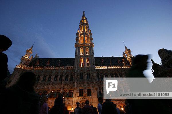 Das Rathaus am Grossen Markt in Brüssel  Belgien