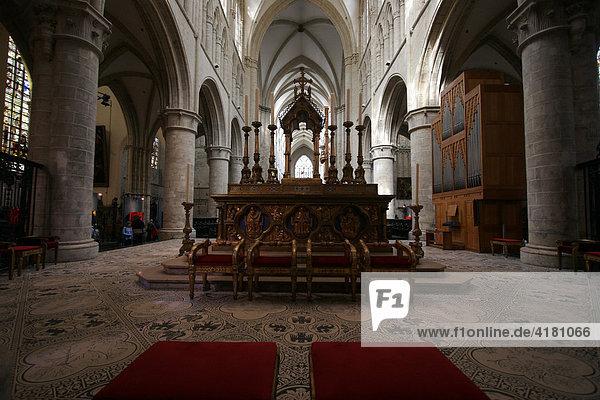 Altar in der Kathedrale von Brüssel Belgien Europa