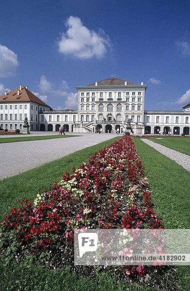 Schloß Nymphenburg  München  Bayern  Deutschland