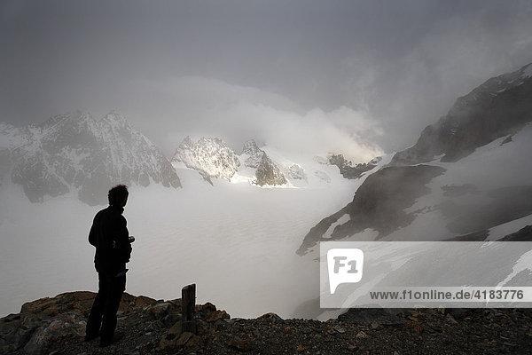 Barre des Ecrins 4.102 m  Glacier Blanc  Provence-Alpes-Cote de Azur  Hautes-Alpes  Frankreich