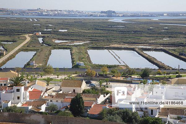 Salt evaporation ponds  Castro Marim  Algarve  Portugal