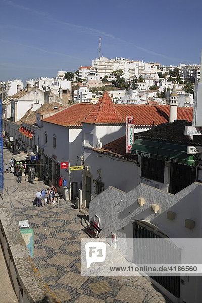 Pedestrian zone  Albufeira  Algarve  Portugal
