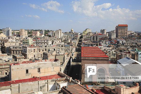 View over Havana  Cuba  Caribbean