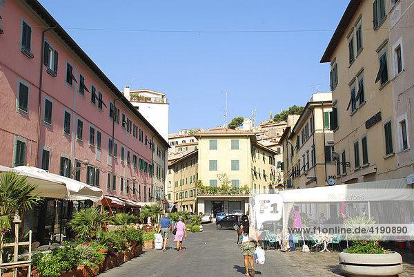 Piazza Cavour Portoferraio Insel Elba Toskana Italien