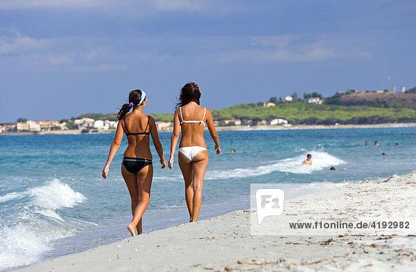 Take a walk on the beach of La Caletta  Sardinia  Italy