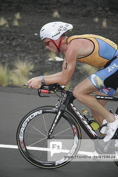 Ironman-Triathlet Luke Bell (Australien) in Hawaii  USA