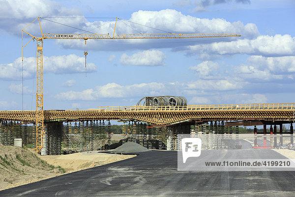 Brücken- und Autobahnbau zum BBI  Berlin  Deutschland  Europa