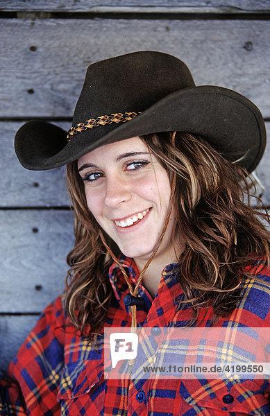 Porträt eines Cowgirls  Kanada