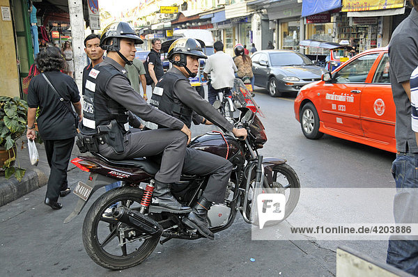 Polizei  Bangkok  Thailand  Asien