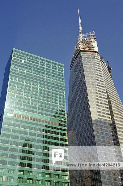 New York Telephone Building von Verizon links  Home Box Office Building rechts  Manhattan  New York City  USA