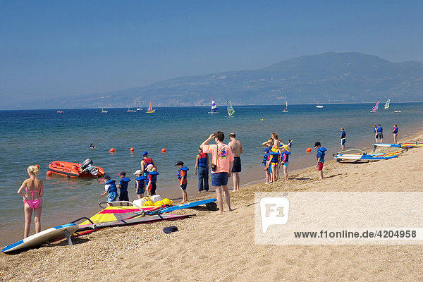 Segelboote  Clubdorf San Augustino Resort  Strand  Peloponnes  Griechenland Segelboote, Clubdorf San Augustino Resort, Strand, Peloponnes, Griechenland