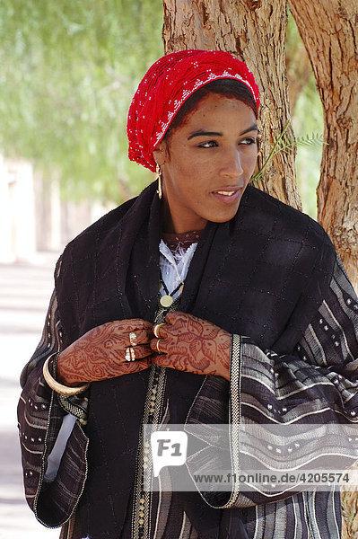 Berber Frau   Ouarzazate   Marokko Afrika