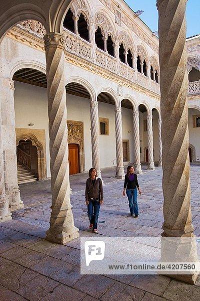 Central Courtyard. San Gregorio College. San Gregorio College National Museum. Valladolid. Castilla-Leon. Spain