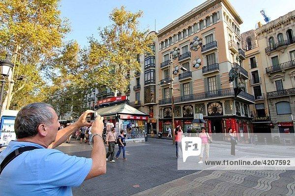 Ramblas  Barcelona  Catalonia  Spain