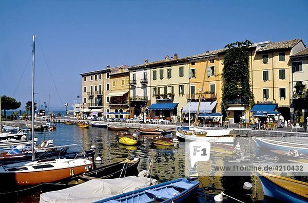 Italy  Lake Garda  Lazise view of the harbour