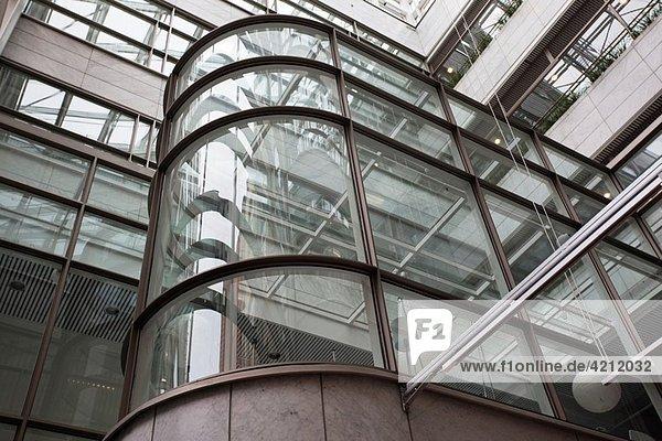 Finland  Helsinki  Design Forum Finland  shop showcases Finnish design  building atrium