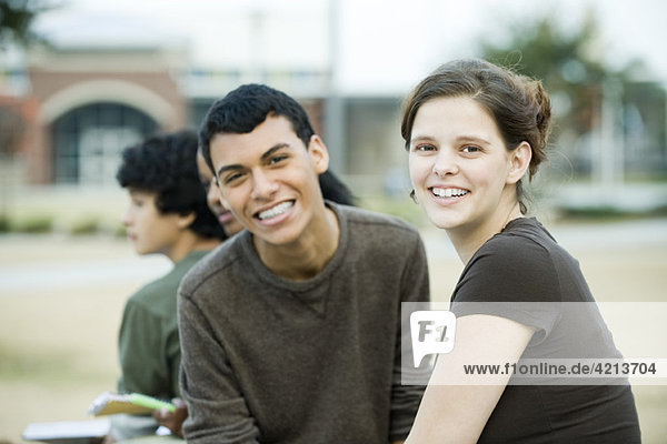Young friends together  portrait